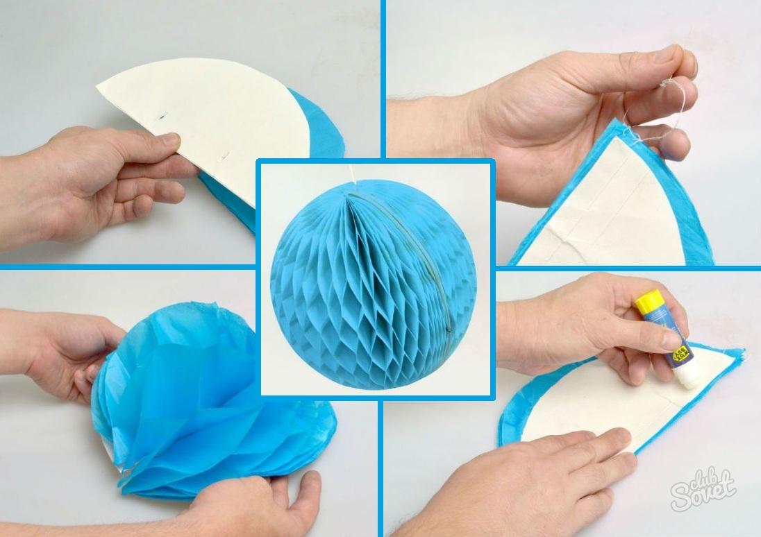 Объемный новогодний шар из бумаги своими руками. как сделать шар из бумаги