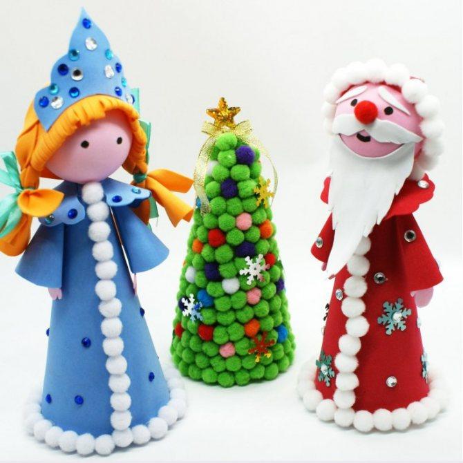 Снегурочка своими руками на новый год 2020 из разных материалов