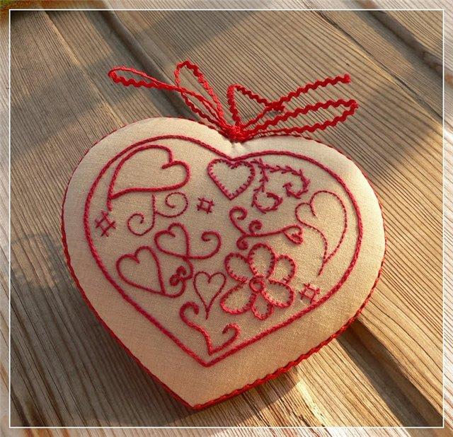 ᐉ вышитое сердце – страстное доказательство вашей любви! - своими руками -