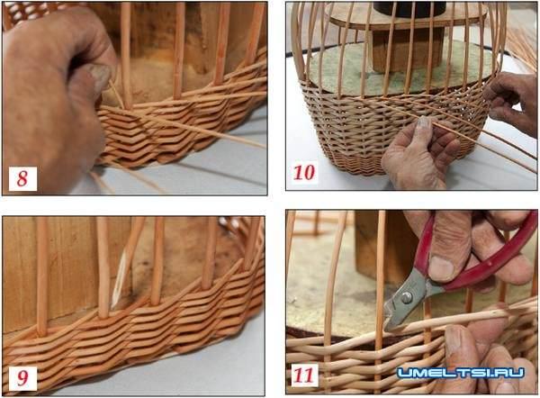 Плетение из лозы для начинающих - особенности работы с материалом, правила плетения, уход и фото идеи