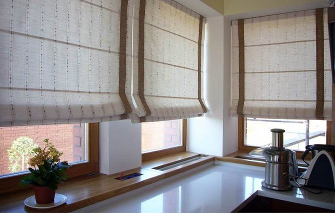 Римские шторы в интерьере - правила подбора и комбинирования, фото идеи