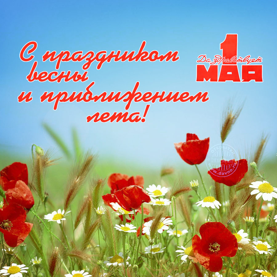 Поздравления с 1 мая в стихах и прозе
