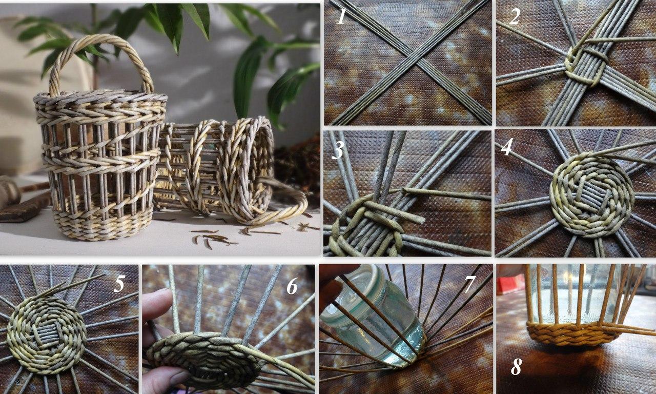 Плетение корзин из газетных трубочек: мастер-классы, схемы и способы как сплести корзинку. 120 фото идей и обзор разнообразия вариантов плетения