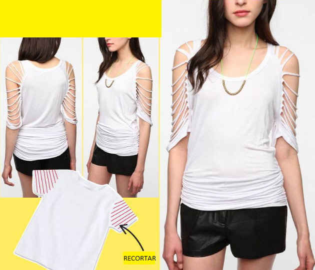 14 способов преобразить простую белую футболку: фото-идеи | своими руками