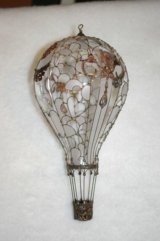 Абажур-воздушный шар для лампы в детской из того что под рукой