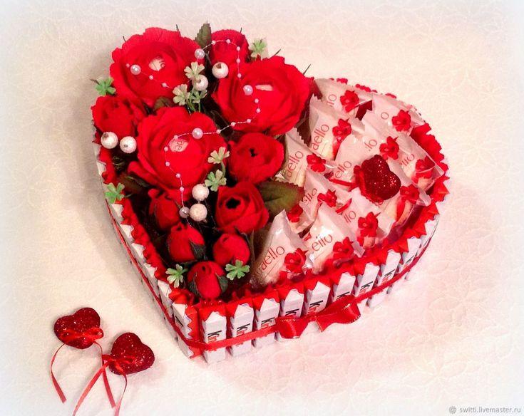 ᐉ сладкое сердце из конфет на день рождения. сердце из конфет, подарок к любому празднику и для хорошего настроения. сердце из конфет своими руками на плоском картоне ➡ klass511.ru