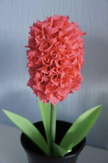Гиацинт из бумаги - пошаговое руководство по созданию цветка своими руками (инструкции, схемы, шаблоны, мастер-класс, фото)