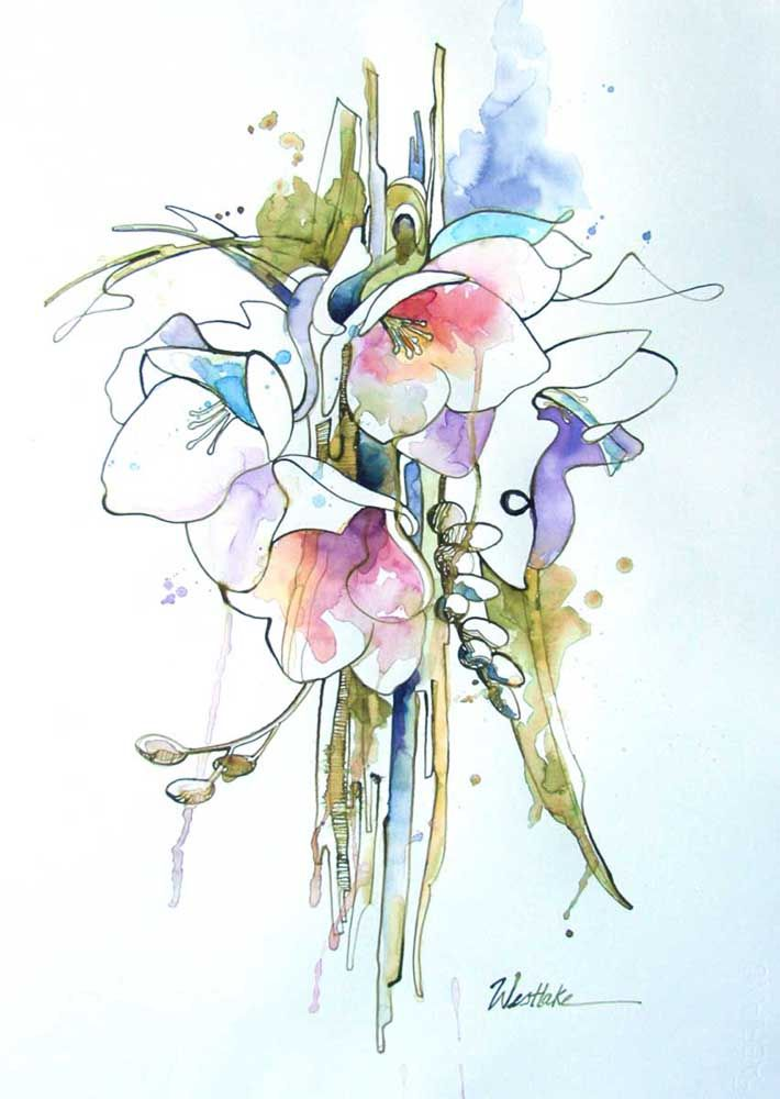 Акварельная живопись flower drawing art, акварельные цветы, розовый цветок с лепестками png