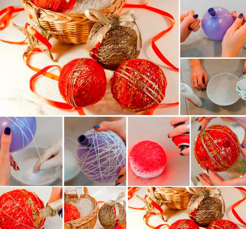 Новогодние шарики из бусин