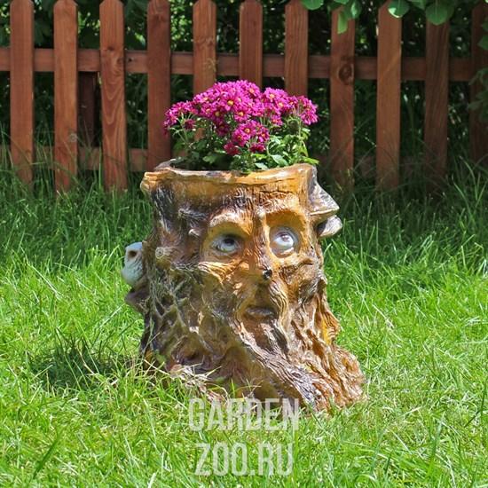 Садовое кашпо в виде пня