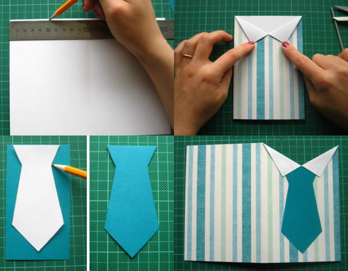 Поделка рубашка – оригинальные открытки из картона и бумаги. пошаговая инструкция как сделать рубашку с галстуком (105 фото)