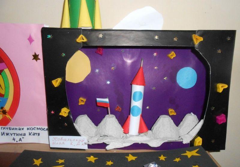 Поделка ракета на день космонавтики: как сделать своими руками из бумаги, картона и пластилина | все о рукоделии