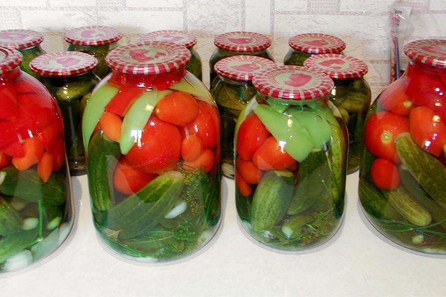 Огурцы в томатной заливке на зиму: рецепт колечками и целиком
