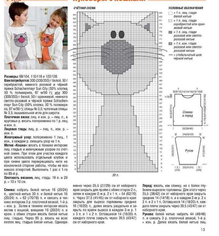 Шапка кошка с ушками спицами — 8 моделей с описанием