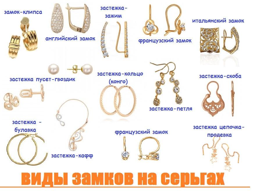 Все виды сережек, список с названиями и фото – obliqo