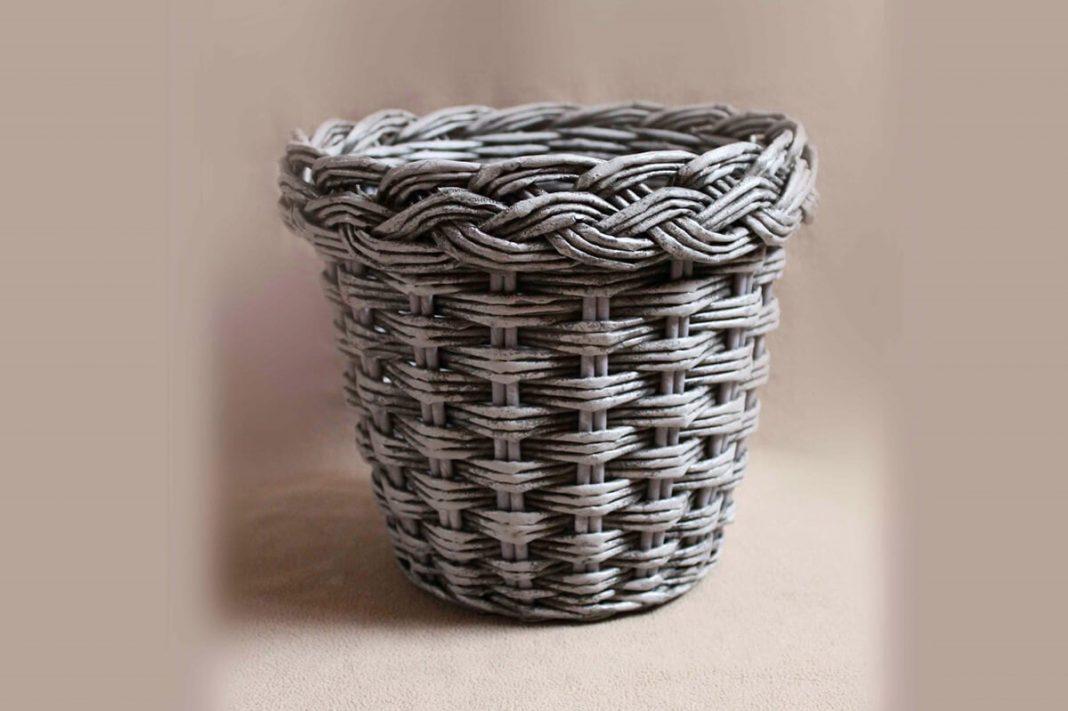 Плетёное подвесное кашпо | страна мастеров