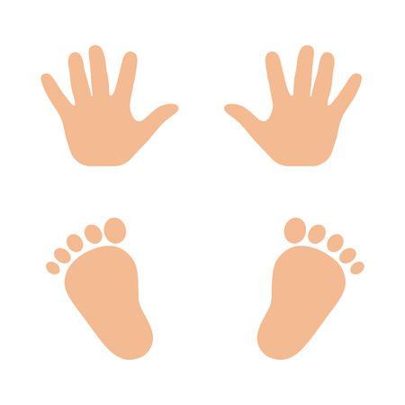 Создаем интересные картинки с отпечатками ног и рук детей