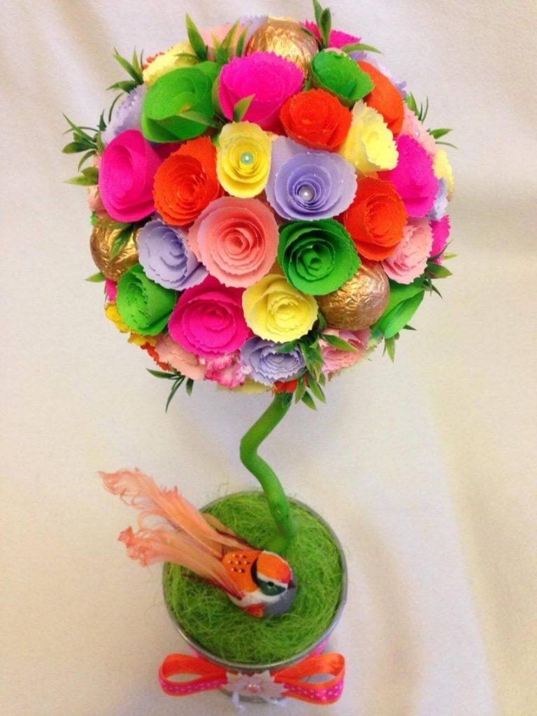 Топиарий цветочный на воздушном шарике. мастер-класс с пошаговыми фото. как сделать новогодний топиарий своими руками. мандариновое дерево-счастья. ма