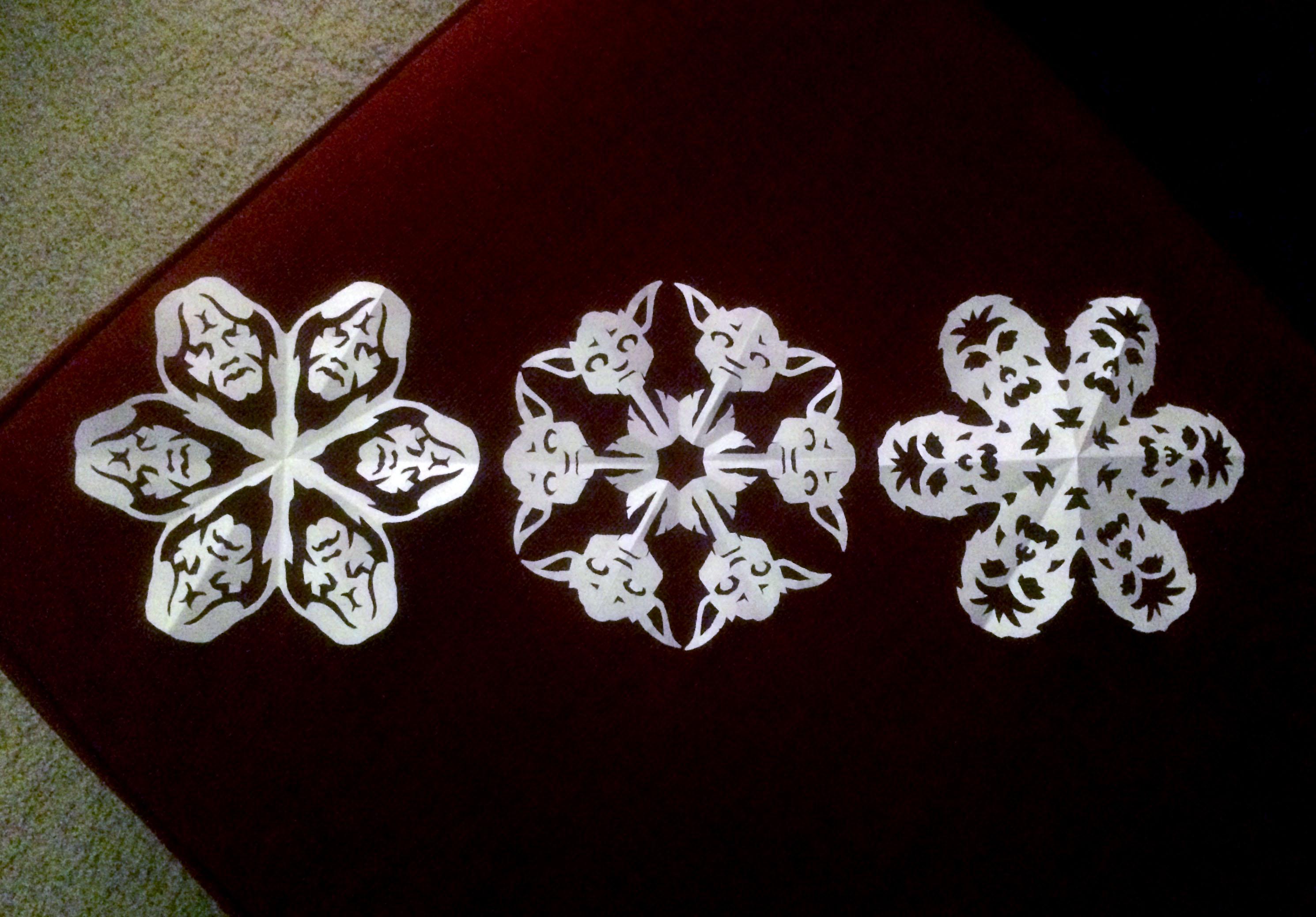 Объемные снежинки из бумаги своими руками на новый год 2019: фото