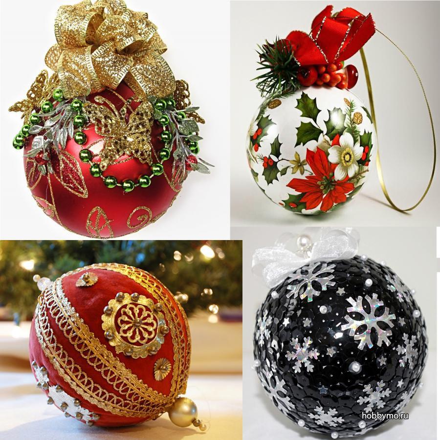 Новогодние шарики своими руками на елку + идеи на конкурс в школу и детский сад