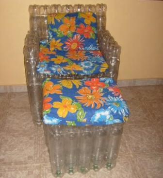 Стул из бутылок пластиковых своими руками. создаем мебель из пластиковых бутылок своими руками