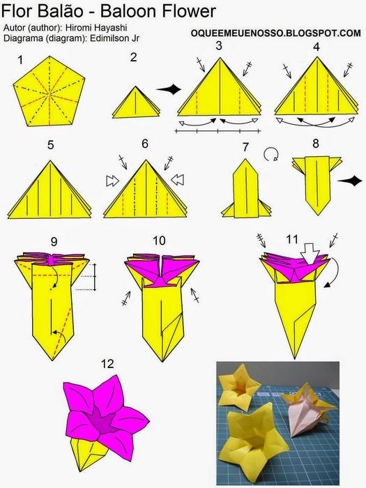 Как сделать оригами цветы из бумаги: 8 лучших схем