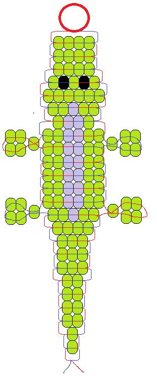 Как сделать из бисера крокодила схема для начинающих. животные из бисера. крокодил. что для этого нужно
