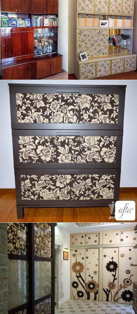 Как обновить старый шкаф (фото)