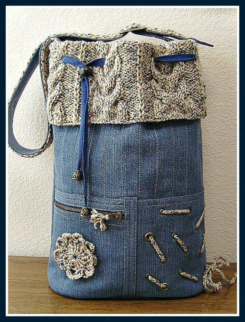 Креативная елочка из джинсовой ткани — своими руками