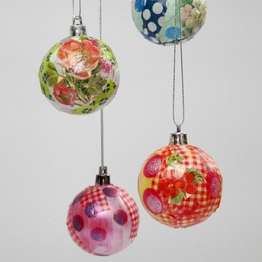 Декупаж новогодних шаров: как сделать игрушки своими руками в стиле декупаж?