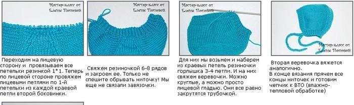 Вязаные шапочки для новорожденных спицами, с описанием и видео