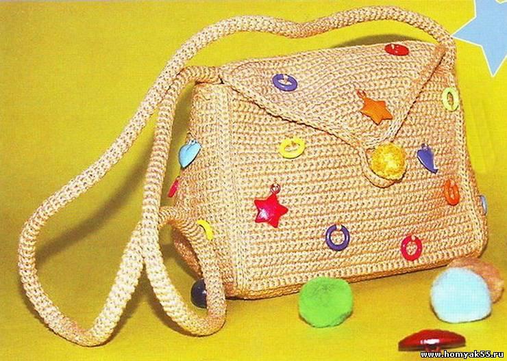 Вот, наконец-то обещанный мк сумочки.