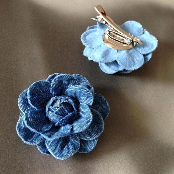 Цветы из джинсовой ткани своими руками: просто и со вкусом