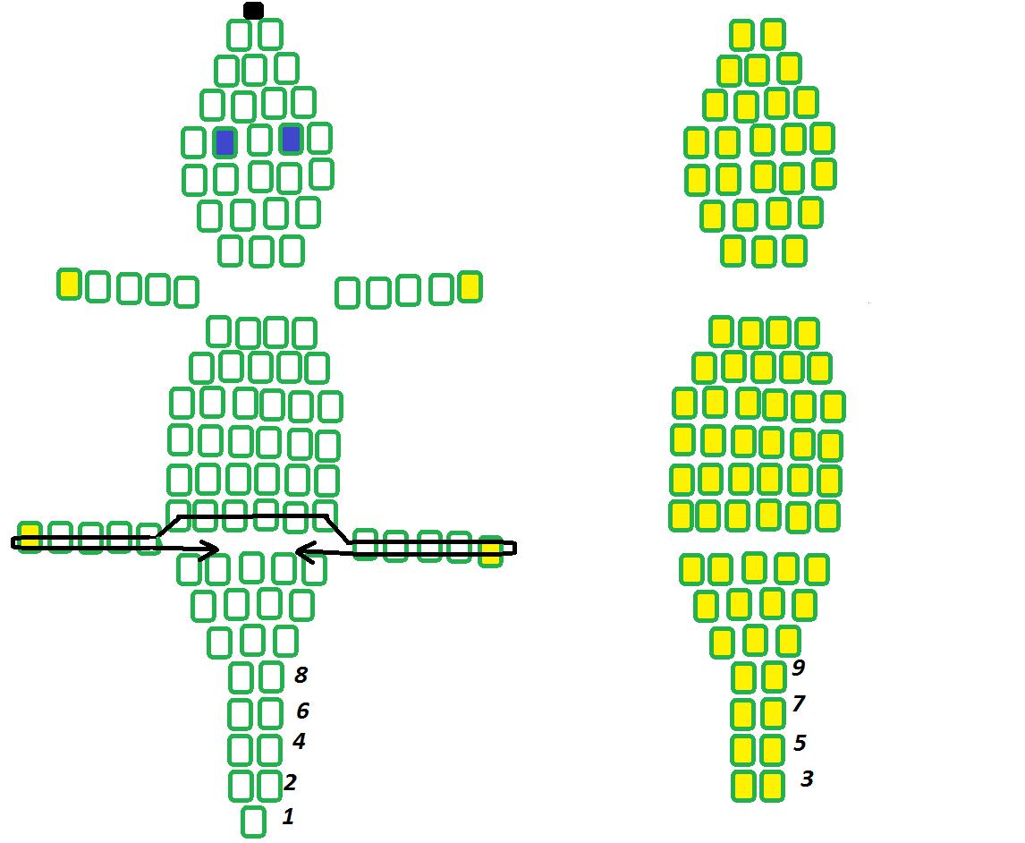 Как сделать из бисера крокодила своими руками, схемы плетения