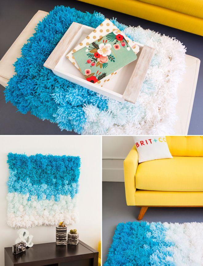 Коврик из помпонов: как сделать своими руками помпоны и собрать ковёр в детскую
