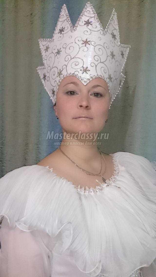Корона для снежной королевы на карнавал