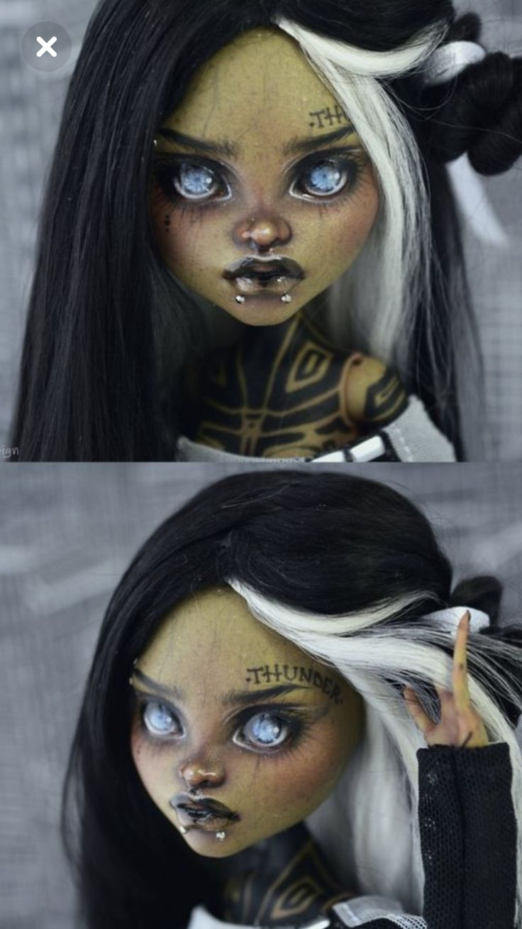 Демонесса ООАК из старой куклы