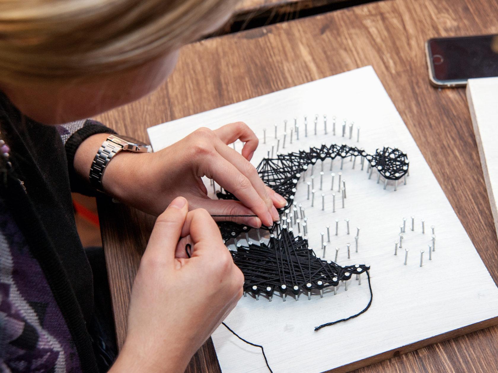 Стринг арт - картины из гвоздей и ниток