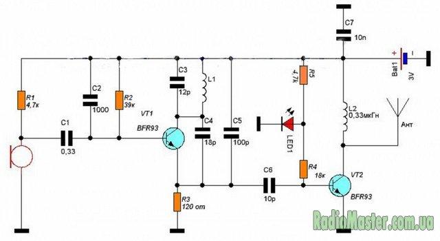 Зарубежные схемы fm трансмиттеров