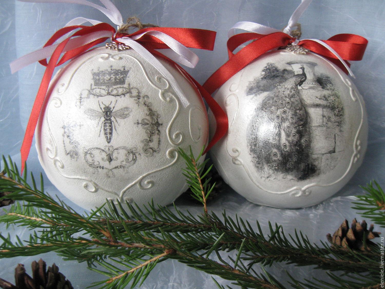 Декупаж новогодних шаров +75 фото идей декора, мастер-классы