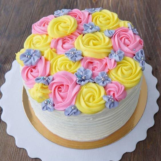Крем для розочек на торт: рецепт