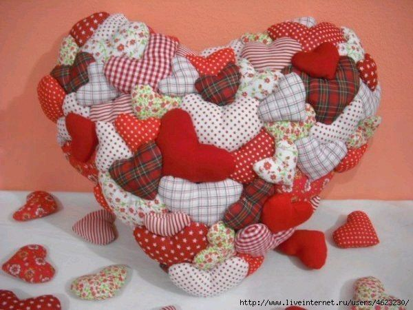 Шьем подушку-сердце своими руками