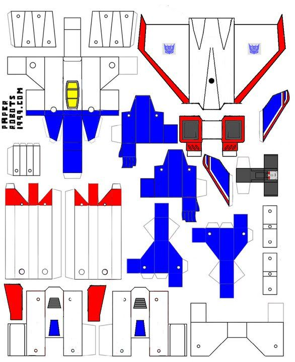 Как сделать из бумаги фигуру-трансформера — схема поделки