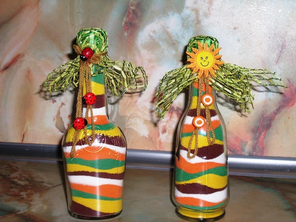 Декор бутылок своими руками – превращение ненужной тары в декор