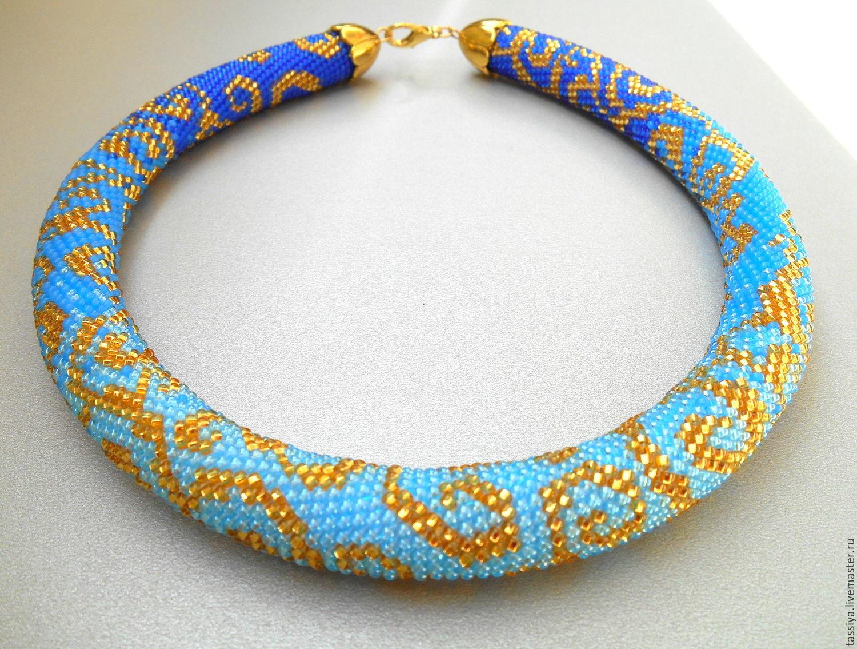Американский жгут из бисера и бусин со схемой плетения
