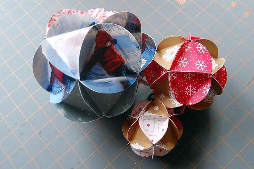 Новогодние шары своими руками - 55 популярных идей на фото