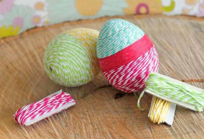 Как сделать яйцо из ниток. пошаговые мастер-классы с фото