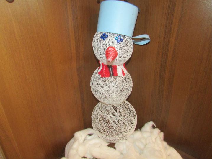 Снеговик из ниток своими руками. мастер – класс с пошаговым фото. снеговик из ниток: мастер-класс