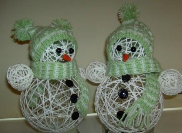 ᐉ снеговик из ниток своими руками. мастер – класс с пошаговым фото. снеговик из ниток: мастер-класс ➡ klass511.ru