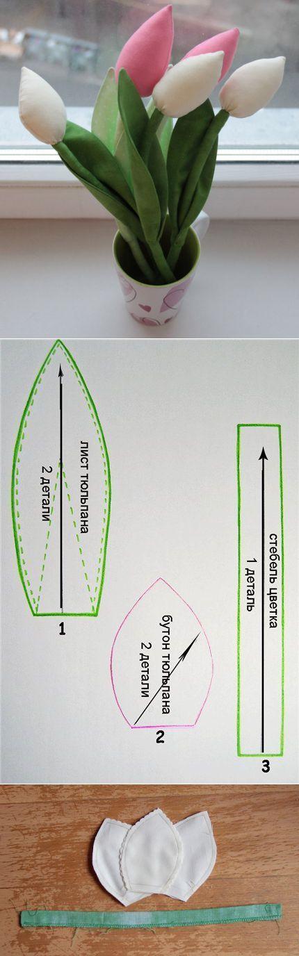 Как сделать тюльпаны своими руками: пошаговые мастер-классы по изготовлению тюльпанов из бумаги, ткани и лент